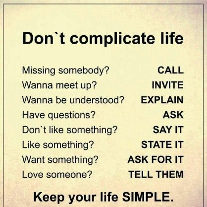 Dont Complicate Life